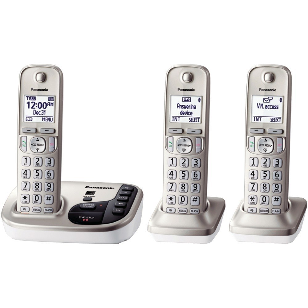 Panasonic KX-TGD223N DECT 6.0 Plus Expandable Digital Cordless 3-Handset System
