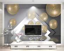 beibehang Custom size wall paper Three-dimensional metal sphere expansion space modern minimalist classic background wallpaper