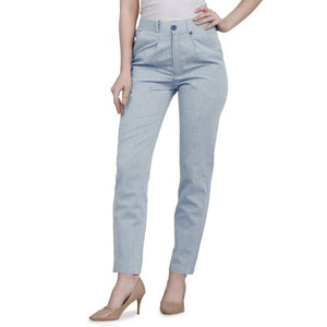 New 2021 Presenting Beautiful Pure Cotton Ladies Pant-Sky Blue-Size-L