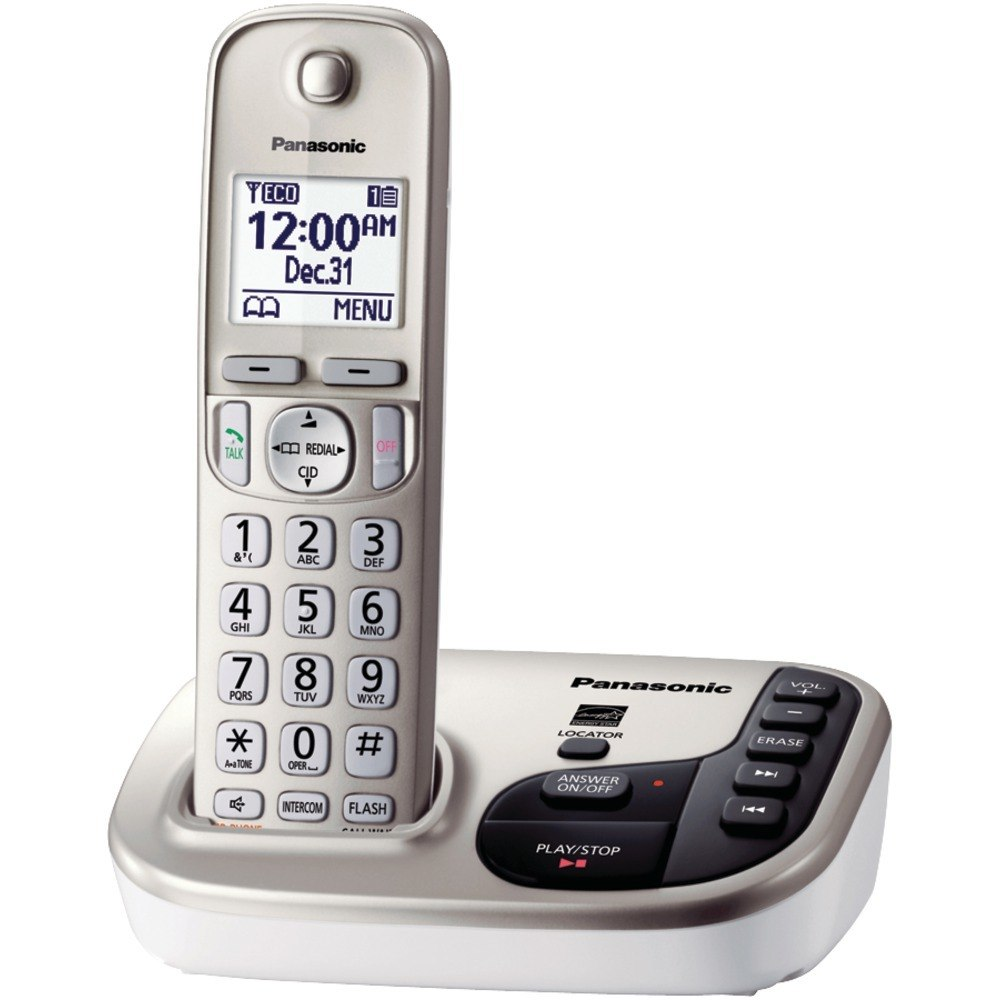 Panasonic KX-TGD220N DECT 6.0 Plus Expandable Digital Cordless1-Handset System