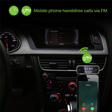 Onever Wireless Mini FM Transmitter Car MP3 Player LCD Display 3.5mm In-car Music Audio Transmitter Modulator For Mobile Phones