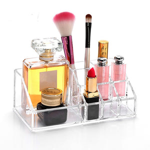 Acrylic Makeup Drawer Type Storage Box Case Holder Brush Pen Organizer Bathroom counter dresser holds Storage supplies