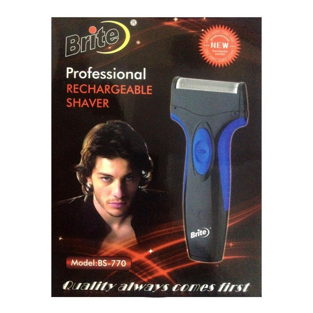 Brite Men's Rechargeable Shaver BS-770