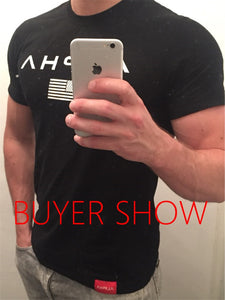 HZIJUE 2018 New Brand clothing Gyms Tight t-shirt mens fitness t-shirt homme Gyms t shirt men fitness crossfit Summer top Imported