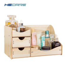New Wooden Cosmetic Organizer Dropshipping Home Makeup Organizer Wood Desktop Storage Box for Cosmetics Organizer for the Office