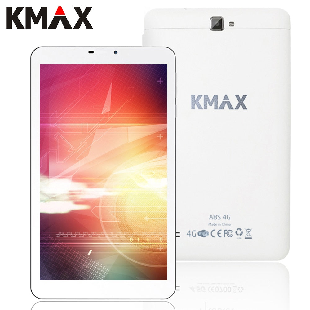 KMAX 4G Phone Tablet PC Android 5.1 8 inch 4G Internet Quad Core MT8735 Tablet PC 2GB 16GB GPS Wifi Bluetooth 2.0MP 5.0MP Camera