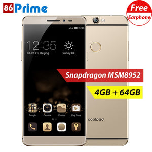"Original Coolpad Max A8 4GB 64GB Smartphone Snapdragon MSM8952 Mobile Phone Octa Core Cell Phones 5.5"" Android Phone Fingerprint"