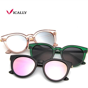 cat eye pink sunglasses woman shades mirror female square sun glasses for women coating oculos 2017 fashion brand sunglasses