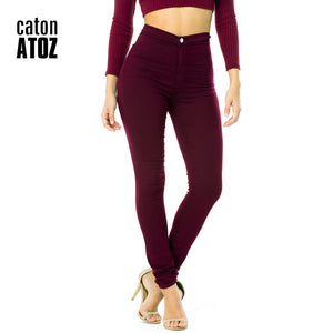 catonATOZ 2035 New  Wholesale Woman Denim Pencil Pants Top Brand Stretch Jeans High Waist Pants Women High Waist Jeans Femme