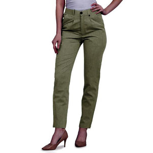 New 2021 Presenting Beautiful Pure Cotton Ladies Pant-Green-Size-M