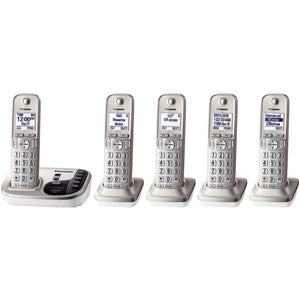 "Panasonic KX-TGD225N DECT 6.0 Plus Expandable Digital Cordless Answering System (5-Handset System) (""PANKXTGD225N"")"