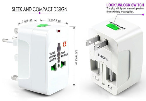 International World Travel Charger Adapter Universal - 6 MONTHS WARRANTY