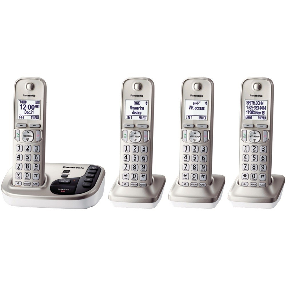 Panasonic KX-TGD224N DECT 6.0 Plus Expandable Digital Cordless 4-Handset System