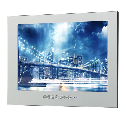 22inch Free Shipping HDMI IP66 Magic Mirror TV Frameless Vanishing Hotel Waterproof TV
