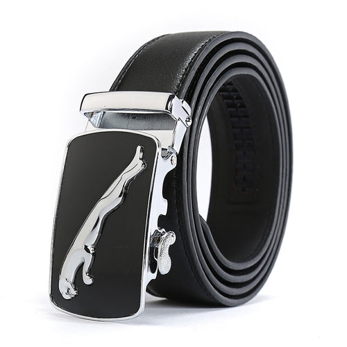 New Casual Jaguar Top Designers Luxury Cowhide Brand Genuine Leather Belts for Mens Wedding Male Cowskin Strap Ceinture Homme