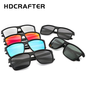 HDCRAFTER 2017 Sunglasses men Polarized Square sunglasses Brand Design UV400 protection Shades Men glasses for driving