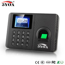 5YOA A10 Biometric Fingerprint Time Attendance Clock Recorder Employee Recognition Device Electronic English Spanish Machine