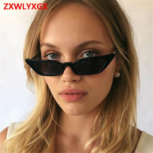 ZXWLYXGX 2018 new fashion sunglasses sunglasses ms.man retro colorful transparent small colorful Cat Eye Sunglasses