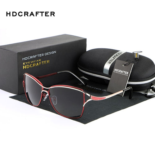 HDCRAFTER New Women Sunglasses Brand Designer Fashion Glasses Ladies Sun Glasses High Quality Selection Eyewear
