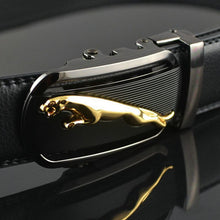 2017 new arrival gold jaguar automatic buckle men belts luxury quality designer strap cowboy size 125cm waist belt jeans c007
