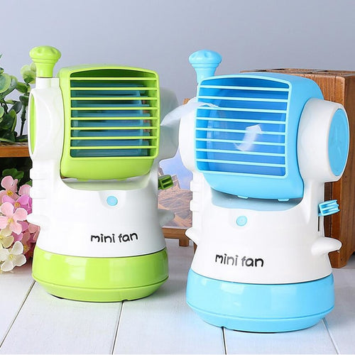 Table Desk Mini Fan Cooling Portable Desktop USB Mini Air Conditioner Cooling small Desk Fan high quality cooler summer for gift