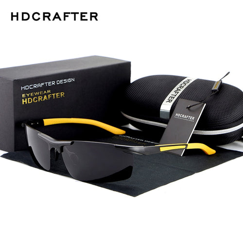 HDCRAFTER 2017 Fashion Sunglasses Aluminum Magnesium Frame mens Polarized Sunglasses Men Driving sun glasses