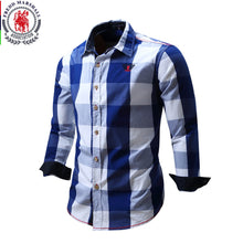 2018 New Arrival Men's shirt  Long Sleeve Shirt Mens Dress Shirts Brand Casual  Fashion Business Style Shirts 100% Cotton 064