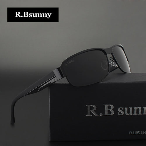 8f93b3b0517 R.Bsunny HD Polarized Sunglasses Men Brand Designer Male Vintage Sun Glasses  Driving fishing goggles