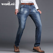 new brand men designer stretch casual straight leg denim jeans male regular fit cotton business trousers pants vaqueros hombre