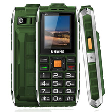 Uhans V5 Daily Waterproof shockproof phone Power bank Dual sim GSM cellphone 2500Mah Big box speaker Led Flashlight Mobile phone