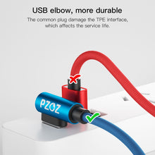 PZOZ USB Type C 90 Degree Fast Charging usb c cable L Type-c 3.1 data Cord Charger For Samsung S8 S9 S7 Note 8 9 Xiaomi mi5 mi6