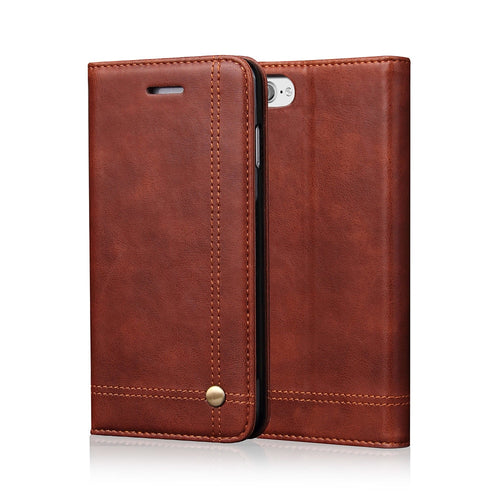 Flip Leather Phone Cases For Iphone X 5S SE 6 6S Plus 7 8 Case Wallet Pouch Style Card Slot Stand Holder Cover For Iphone 7 Plus