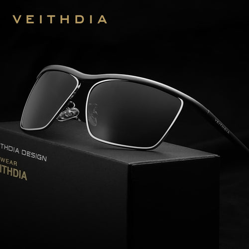 VEITHDIA Brand Aluminum Magnesium Men's Sun glasses Polarized Mirror Lens Eyewear Accessories Sunglasses For Men Oculos 6381