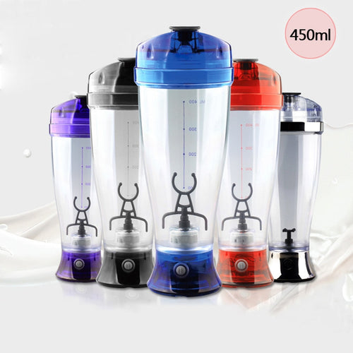450ML Protable Electric Automatic Mixing Milk Coffee Mixer Mini Juice Manual Protein Shaker Blender Battery Plastic Food Mixer