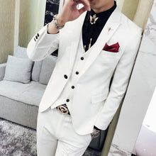 Red Prom Suit 2018 New Evening Man Dress Wedding Suit Male Black Orange White Blue Costume Homme Ternos Slim Masculino 3 Pieces
