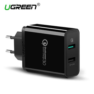 Ugreen USB Charger Universal Quick Charge 3.0 30W Fast Mobile Phone Charger(Quick Charge 2.0 Compatible) for Samsung Huawei LG