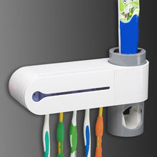 2 in 1 Antibacteria UV Light Ultraviolet Toothbrush Automatic Toothpaste Dispenser Sterilizer Toothbrush Holder Cleaner