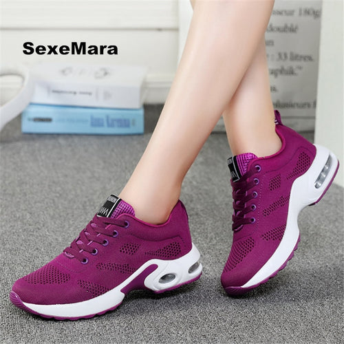 Women four seasons Sneakers women shoes Running shoes  Leather net Sport Shoes Air damping Outdoor arena Athletic zapatos mujer