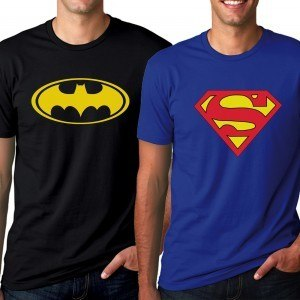 Superman + Batman Classic T-shirt Combo Deal