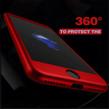 GVU 360 Case For iPhone 6 6s 7 Plus Case Shockproof Slim Cover Full Degree Protective Tempered Glass For iPhone 5 5s 8 8 Plus