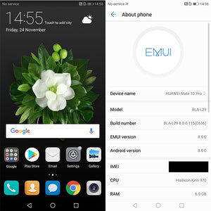 "Huawei Mate 10 Pro Global Firmware Smartphone Android 8.0 Dual Rear 20MP+12MP 4000mAh 6.0"" 2160*1080 Kirin970 Fingerprint NFC"