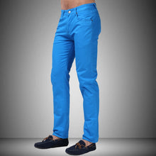 Men Jeans Straight Casual Jeans Fashion Design Men Pants White Blue Red L9761