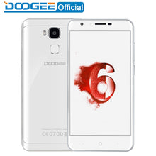 Doogee Y6 Piano White Fingerprint mobile phones 5.5Inch HD 4GB+64GB Android6.0 Dual SIM MTK6750 Qcta Core 13.0MP 3200mAH LTE GPS
