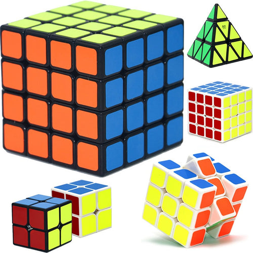 QIYI 4*4*4 Professional Speed Rubiks Cube 3x3x3 Magic Cube Educational Puzzle Children Toys Learning Cubo Anti-stress Toy ZJD