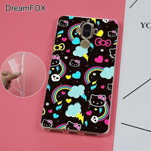 DREAMFOX K119 HELLO KITTY Soft TPU Silicone  Case Cover For Huawei Mate G 7 8 9 10 Nova 2 Lite Pro Plus