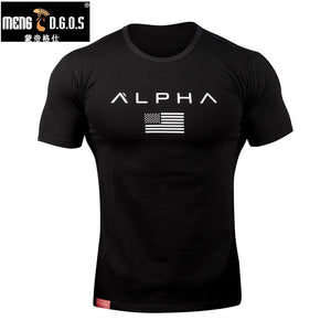 2017O-neck cottonT-shirt Stadium  Stringer Man Body Engineers Bodybuilding And Fitness Crime Short Sleeve T-shirt Slim-type