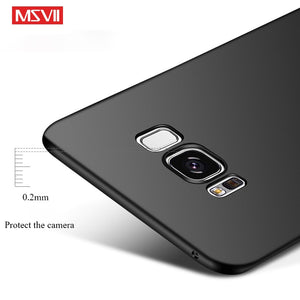 Msvii For Samsung S8 Case Luxury Full Hard Frosted PC Back Cover Case for Samsung Galaxy S8 Plus Protection Case for galaxy s8
