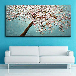 handmade Modern Canvas on Oil Painting Palette knife Tree 3D Flowers Paintings Home living room Decor Wall Art  168031