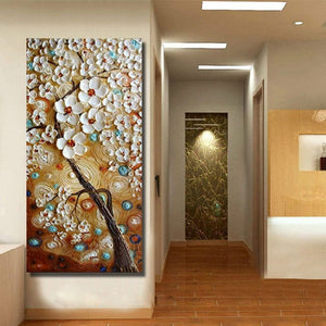 handmade Modern Canvas on Oil Painting Palette knife Tree 3D Flowers Paintings Home living room Decor Wall Art  168028 1