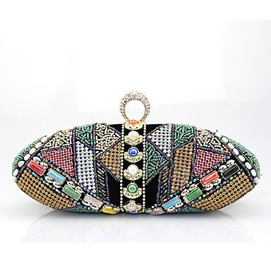 Women's Bags Velvet Clutch Beading Embroidery Blue / Black